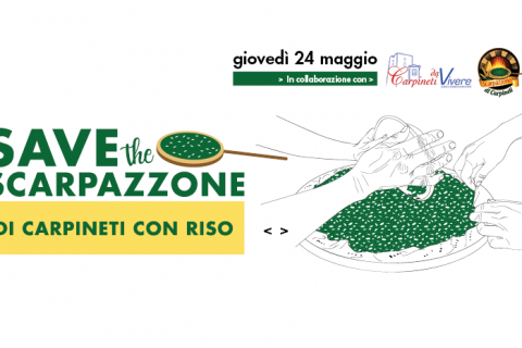 Save the scarpazzone di Carpineti con riso